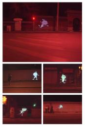 Moto Q Mobile Phone: TUZKI'S MIDNIGHT ESCAPADE Outdoor Advert by Ogilvy & Mather Beijing