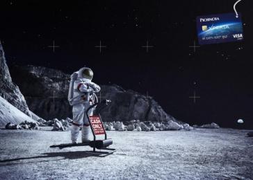 Banco Pichincha: Moon Print Ad by Lowe Delta Quito