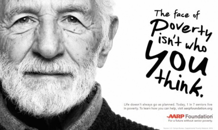 American Association of Retired Persons (AARP): The Face of Poverty Isn't who you Think, 1 Print Ad by Grey New York