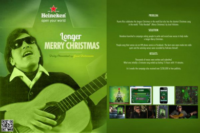 Heineken Beer: LONGER MERRY CHRISTMAS Case study by J. Walter Thompson San Juan