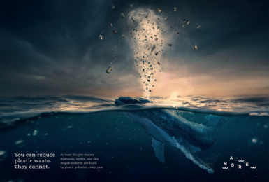 aMORE: You can reduce plastic waste. They cannot. Print Ad by Studio Tumpić/Prenc, Croatia