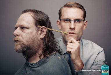 Listerine: Pencil Print Ad by J. Walter Thompson London