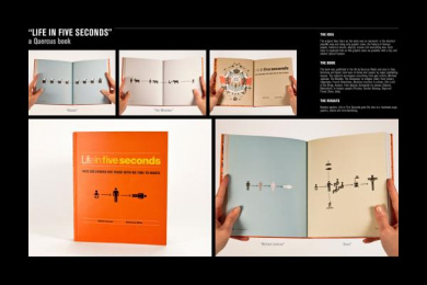 LIFE IN FIVE SECONDS BOOK: LIFE IN FIVE SECONDS Design & Branding by H-57