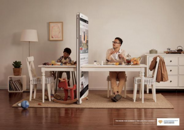 CENTER FOR PSYCHOLOGICAL RESEARCH, SHENYANG: CENTER FOR PSYCHOLOGICAL RESEARCH, SHENYANG PHONE WALL CAMPAIGN - DINING TABLE Print Ad by Ogilvy & Mather Beijing