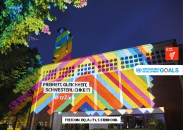17Ziele: 17 Live Projections, 14 Print Ad by HUisHU. Digitale Kreativagentur, Hamburg & Hannover, Germany