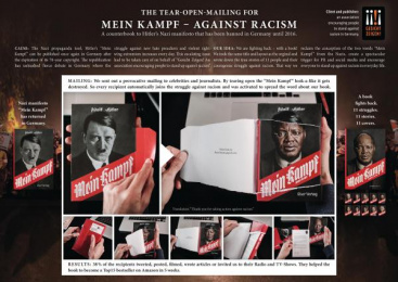 Gesicht Zeigen!: The Tear-Open-Mailing For Mein Kampf - Against Racism, 5 Direct marketing by H&O, Ogilvy & Mather Frankfurt, Tony Petersen Film