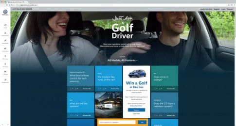 Volkswagen: Just Ask a Golf Driver [image] Digital Advert by DDB Toronto