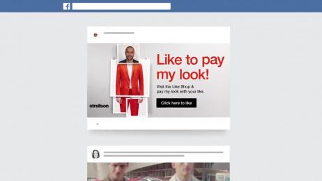 Strellson: Strellson Like Shop Digital Advert by Serviceplan Campaign X Munich