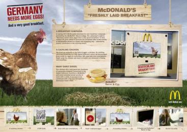 Mcdonald's: FRESHLY LAID BREAKFAST Outdoor Advert by Heye & Partner Munich