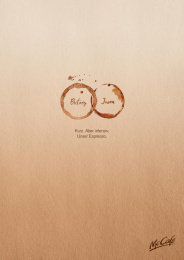 Mccafe: Wedding Rings Print Ad by DDB Wien