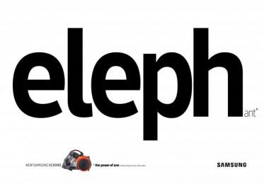 Samsung VC4000: ELEPHant Print Ad by Cheil Kazakhstan