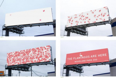 Woodland Park Zoo: THE FLAMINGOS ARE HERE Print Ad by Wongdoody