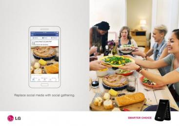 LG: Flip Phone, 3 Print Ad by Miami Ad School New York
