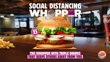 Burger King: Social Distancing Whopper, 3 Print Ad by Wunderman Thompson, Italy