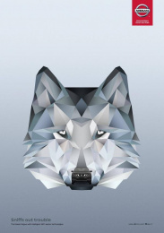 Nissan: Grey Wolf Print Ad by Juniper Park \ TBWA