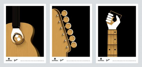 Seagram: The 100 Pipers Guitar Series Print Ad by Ogilvy & Mather Gurgaon