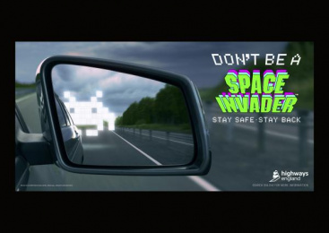 Highways England: Space Invaders, 3 Print Ad by adam&eveDDB London