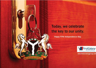 First Colony Group: Nigeria 57th Independence Print Ad by Symbiosis C2D