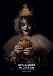 Burger King: Scary Clown Night, 2 Print Ad by Lola Madrid