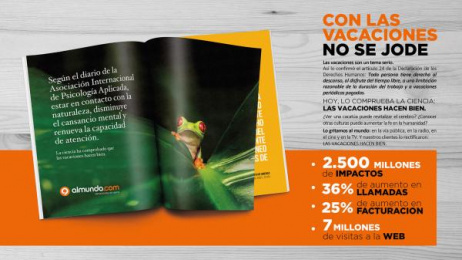 Almundo: La ciencia y las vacaciones [image] Print Ad by Madre