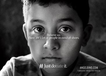 Angel Bins: Just DOnate It, 1 Print Ad by Alma Miami