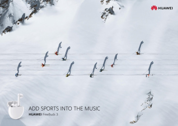 Huawei: Sports Notes - Ski Print Ad by GForce/Grey Almaty