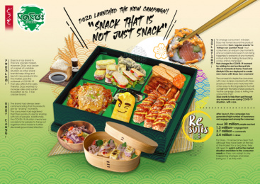 Dozo Thai: Snack That Is Just Not Snack Print Ad by Brilliant & Million