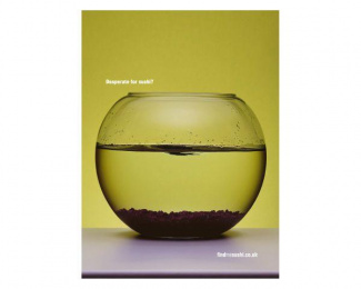 Online Restaurant Directory: GOLDFISH BOWL Print Ad by Scholz & Friends London