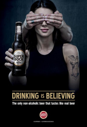 Super Bock: Woman Print Ad by Caldas Naya Barcelona