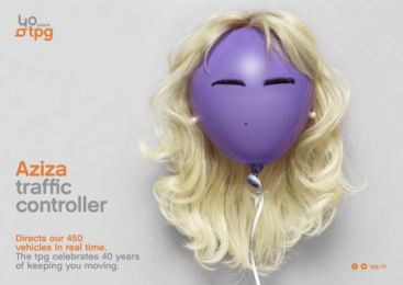 Geneva Public Transports - TPG: Aziza Print Ad by Cavalcade, Federal Studio