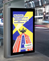 Upwork: Hey The Rock! Outdoor Advert by Duncan Channon
