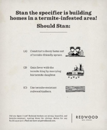 Humboldt Redwood: The Obvious Choice, 3 Print Ad by barrettSF