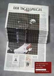 Der Tagesspiegel: Soccer Print Ad by Scholz & Friends Berlin