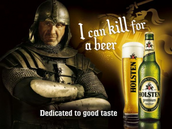 Holsten: Knights Print Ad by Noble Graphics