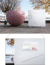 DU Kulturmagazin: Eyetracking of Ganymed's Sister Outdoor Advert by Euro Rscg Zurich