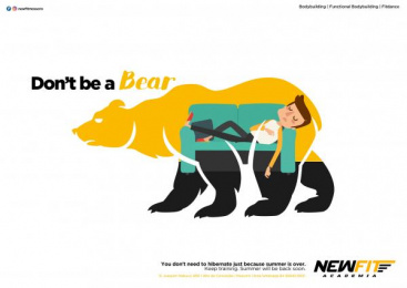 Academia Newfit: Don't be a Bear, 1 Print Ad by Team collaboration
