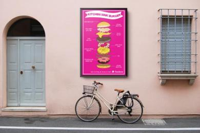 Foodora: Burger Outdoor Advert by Miami Ad School