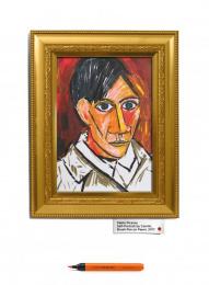 Camlin Brush Pens: Pablo Picasso Outdoor Advert by R K Swamy BBDO Mumbai