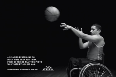 Sporting Association For The Disabled: The Blind Click Print Ad by Age Comunicacoes Sao Paulo