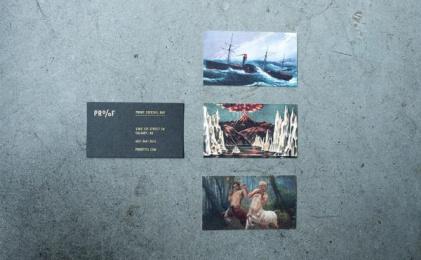 Proof Cocktails & Curiosities: Pr%F Identity, 6 Design & Branding by Wax