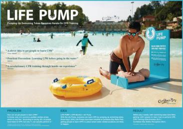 Caribbean Bay Water Park: Life Pump [image] Ambient Advert by Cheil Seoul, Junpasang Production Seoul, Yonggamhan Production