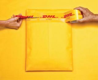 DHL: Scissors [alternative version] Print Ad by Grey Bangalore