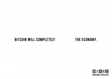 WIRED MAGAZINE: Bitcoin Print Ad by Central Saint Martins