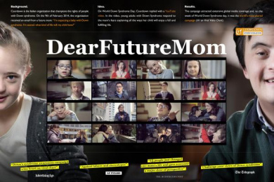 WORLD DOWN SYNDROME DAY: DEAR FUTURE MOM Case study by Saatchi & Saatchi Milan