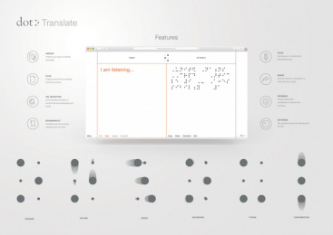 Dot Incorporation: Dot Translate. The First Braille Translator Based on AI., 5 Digital Advert by Serviceplan Munich