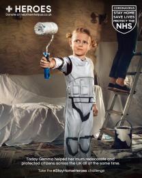 Heroes: #StayHomeHeroes, 3 Digital Advert by Iris London