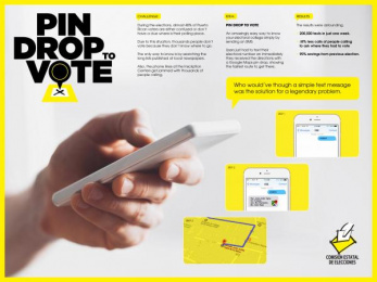 State Election Commission: Pindrop to Vote [image] Digital Advert by McCann Erickson San Juan