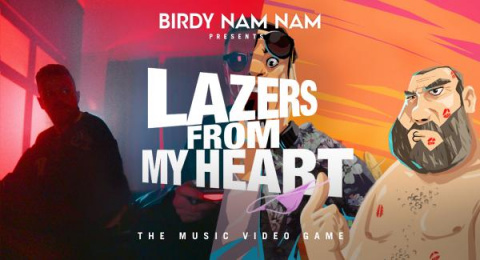 BIRDY NAM NAM: LAZERS FROM MY HEART - THE MUSIC VIDEO GAME Digital Advert by Bloomy Ideas, Ideas For Music