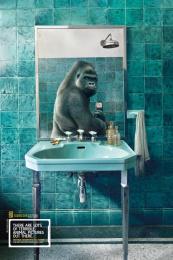National Geographic: Gorilla Print Ad by Heads Propaganda