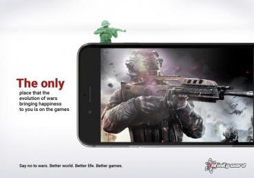 Infinity Ward: Evolution of War Print Ad by Unilago
